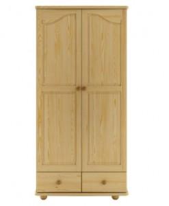 Masivní šatní skříň Fotis s šatní tyčí