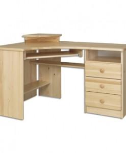 Velký rohový psací stůl Taito z masivu borovice