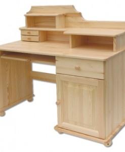 Moderní kombinovaný psací stůl Palvi z borovicového dřeva