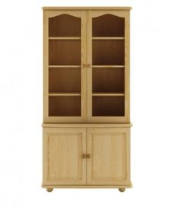 Dřevěná kombinovaná vitrína Svante
