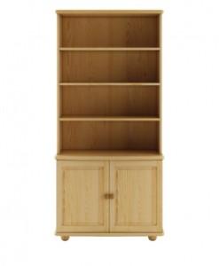 Elegantní dřevěná knihovna Tita s úložným prostorem
