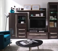 Elegantní obývací sestava Sandrine v dekoru dřeva