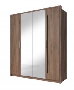 Zrcadlová šatní skříň Teriel 2