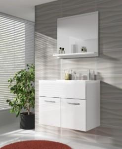 Koupelnová sestava Horace mini 2 - bílá / bílý lesk