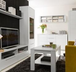 Bílý obývací pokoj Blanc