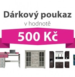 Dárkový poukaz za 500 Kč na nábytek podle vlastního výběru