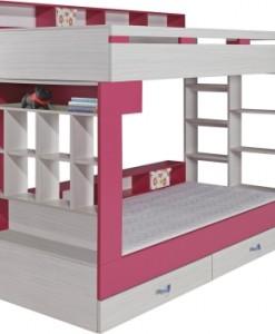 Akce - Patrová postel s policemi Adéla 1