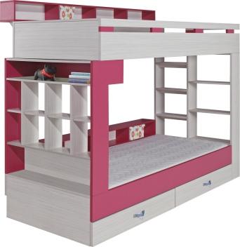 Akce – Patrová postel s policemi Adéla 1