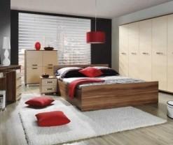 Moderní ložnice se dvěma šatními skříněmi Mauricius 3
