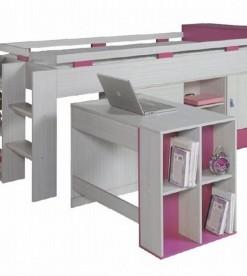 Vyvýšená postel s psacím stolem Adéla 4