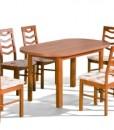 Jídelní set s polstrovanými židlemi Leon