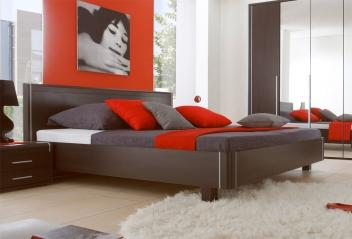 Moderní manželská postel Volinois em – provedení wenge