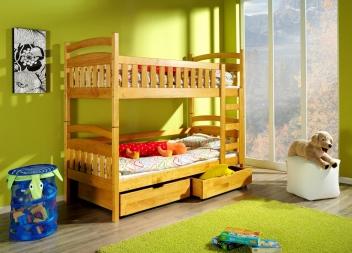 Dětská patrová postel z masivu Kora