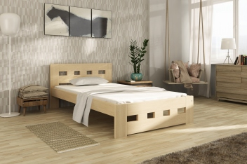 Jednolůžková postel Tailery – masiv