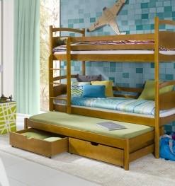 Dětská patrová postel s přistýlkou Florisa