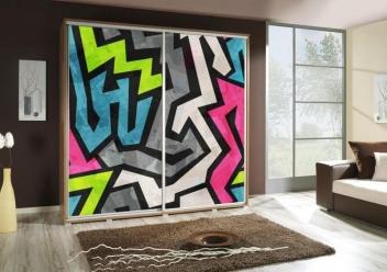 Šatní skříň s abstraktním motivem Penelopa 29